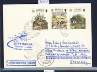 56004) LH FF Frankfurt - Calgary Canada 15.6.96, Karte ab GB / UK Jersey