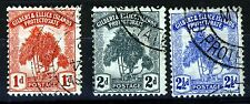 GILBERT & ELLICE ISLANDS 1911 The Pandanus Pine Set SG 2 to SG 4 VFU