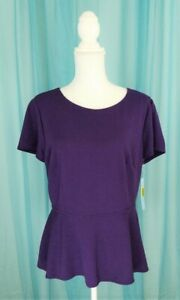 Antonio-Melani-Purple-Peplum-Top-Size-Large-New-With-Tags