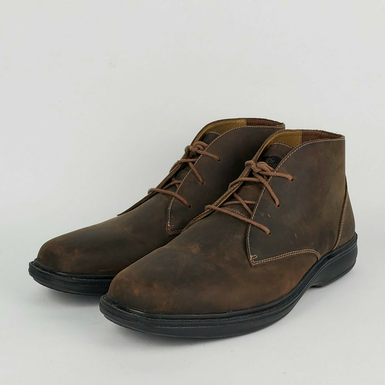 Dr. Comfort Mens Ankle Boots Chukka Therapeutic Diabetic Leather Brown Sz10.5 XW