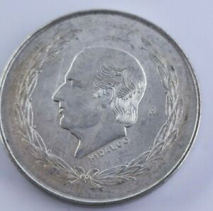 BEAUTIFUL-1952-MEXICO-COLLECTORS-SILVER-HIDALGO-5-PESOS-0-720-COIN-A70