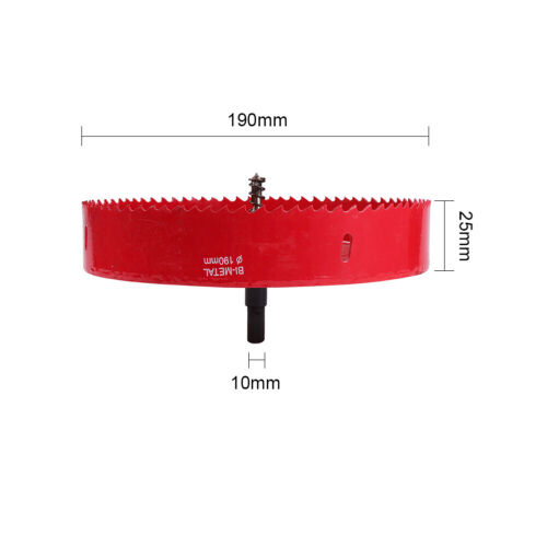 16-220mm Red Bi-metal Hole Saw Cutter Drill Bit For FVT Deck Light Metal Pipe