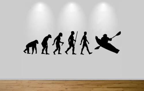 Kayak evolution autocollant mural autocollant chambre mur art canoe singe pour homme evo
