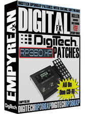 DigiTech RP360 XP Patches Guitar Effects Pedal Tone Presets Amp Settings Win Mac