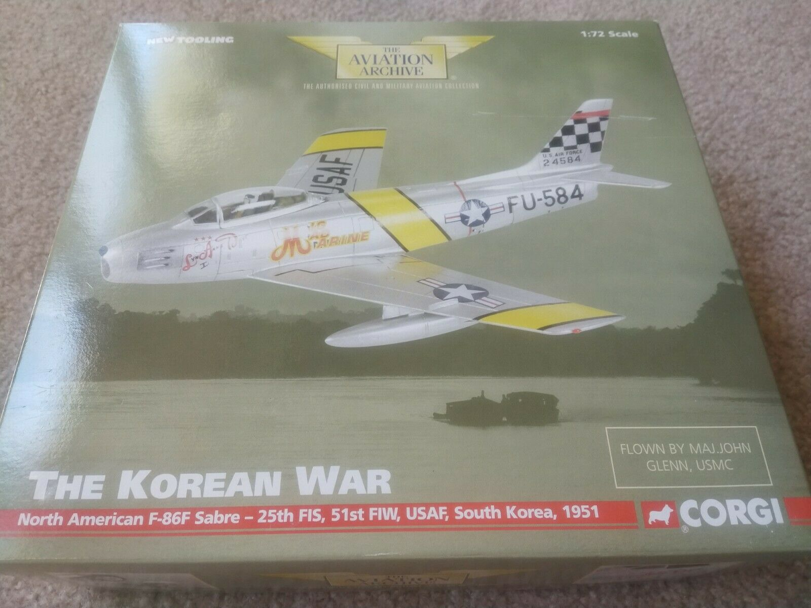 CORGI AA35801 F-86F SABRE le Major John Glenn USMC la guerre de Corée