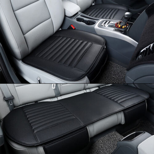 PU Leather Car Seat Cover Breathable Pad Mat Auto Chair Cushion Universal M Size
