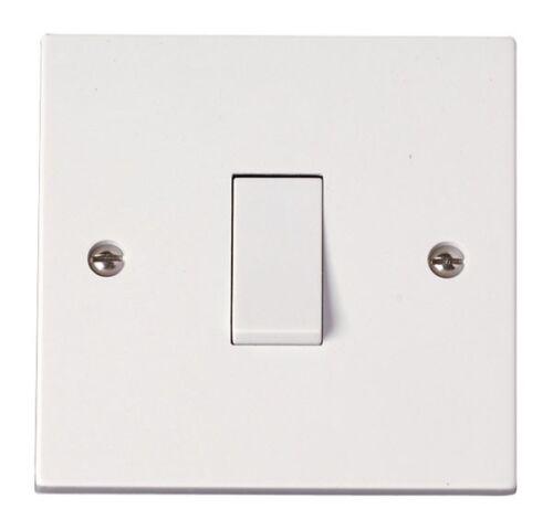 Logo de la british standard 1G 2 voie en plastique blanc interrupteur de lumière