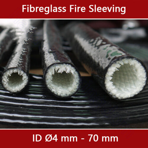 Fibreglass Fire Sleeving Ø 4 mm 130 mm Silicone Protective Heat Shield Sleeve