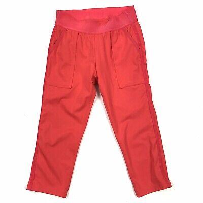 New Derek Lam Athleta XS Capri Pants Chelsea Orange Coral Athletic Casual