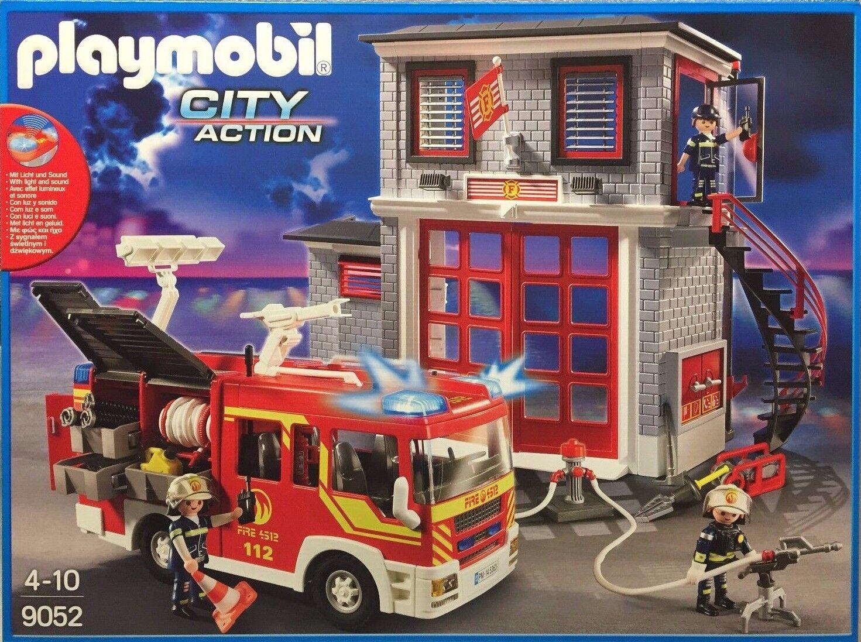 Playmobil 9052 City Action Feuerwehr Mega Set mit Alarm und Figuren Neu & OVP  | Schön geformt