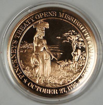 1795  New Orleans Mississippi River ~ Franklin Solid BRONZE Proof-Like Medal