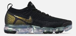 low priced 14d4b f4cf8 Details about NIKE AIR VAPORMAX FLYKNIT 2 MEN'S RUNNING BLACK - MULTI COLOR  - METALLIC SILVER
