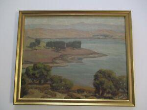 RALPH-HOLMES-OIL-PAINTING-EALY-CALIFORNIA-IMPRESSIONIST-LANDSCAPE-COASTAL-ART