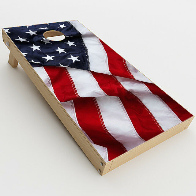 Skin Decals for Cornhole Game  Board (2xpcs.)   US Flag, America Proud  2018 latest