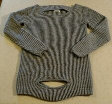 Celine Women's 93% Viscose Gray Ribbed Sweater Made In Italy Size Large