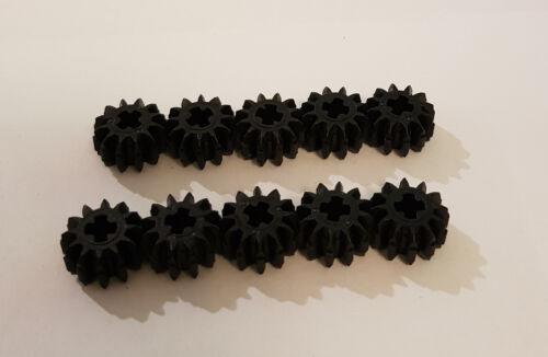 10x Lego Technik Zahnrad 12 Zähne 32270 schwarz Technic Kegel 4177431