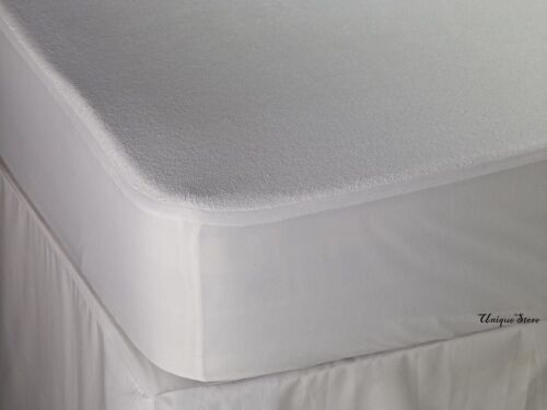 100/% WATERPROOF TERRY TOWEL Mattress Protector DOUBLE KING Fitted Sheet BedCover