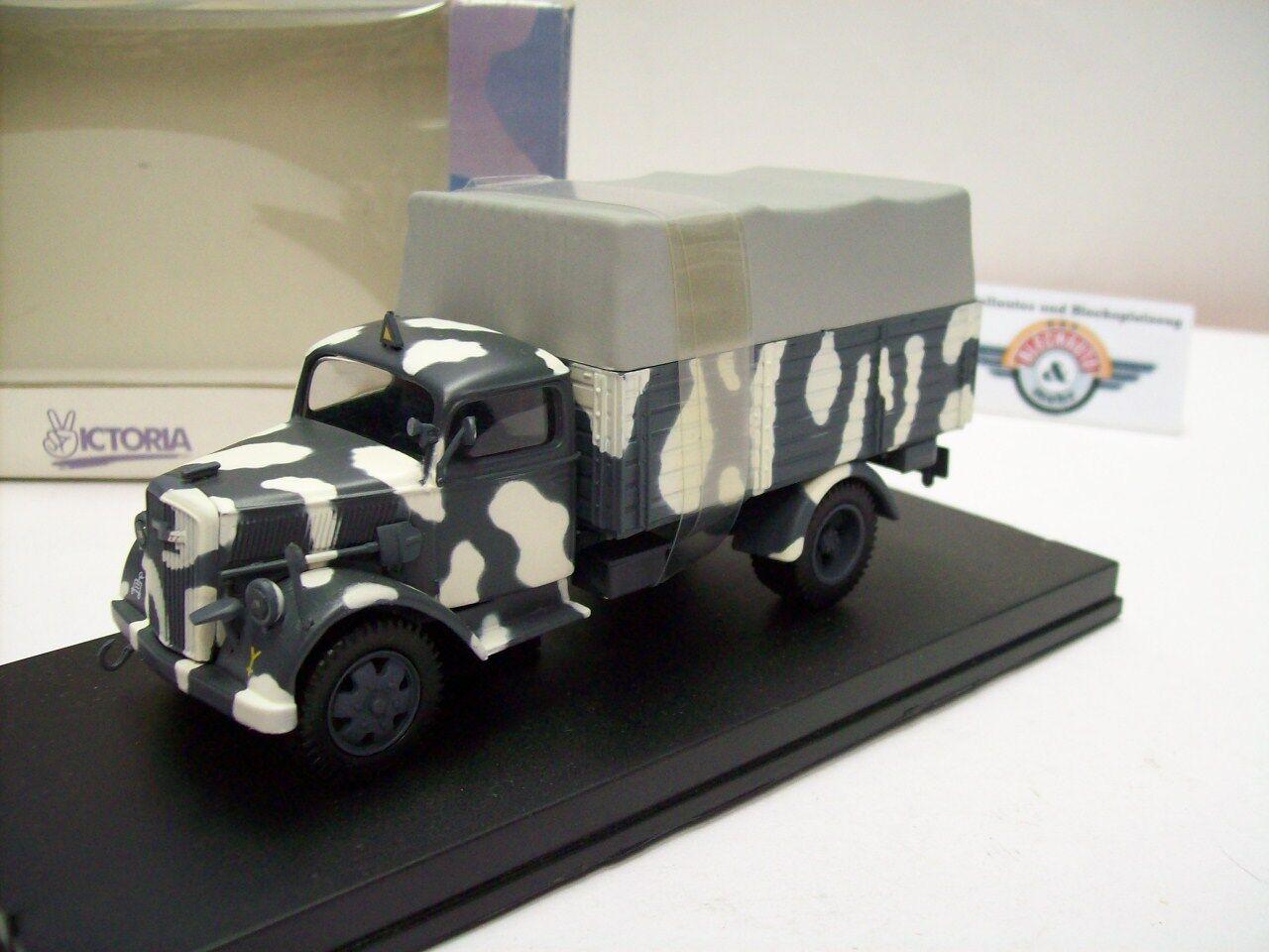 OPEL Blitz Troop Carrier, grigio/bianco, Whermacht Russia 1943, Vitesse 1:43, OVP