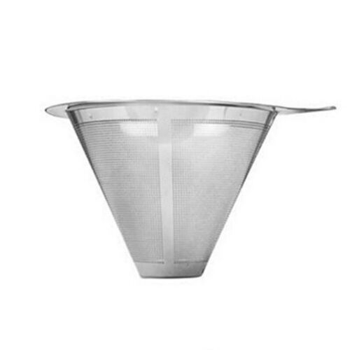 S//M//L Reusable Mesh Pour Over Cone Coffee Brewing Dripper Filter Strainer Funnel