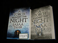 Sabaa Tahir signed A Torch Against The Night 1st print hardcover book NOT TIPPED