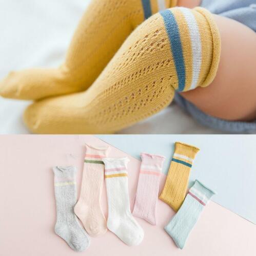 Newborn Baby Socks Solid Girl Boy Infant Knee High Socks Autumn Winter Warm Kids