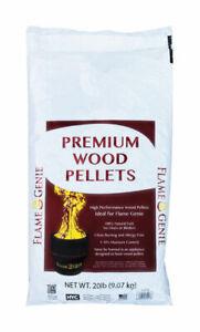 Flame Genie Premium Hardwood Wood Pellet Fuel 20 lb.   eBay