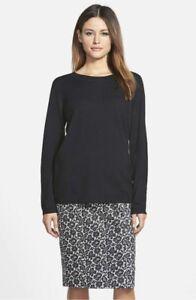 NWT-Pink-Tartan-Button-Back-Merino-amp-Cashmere-Sweater-XL-Black