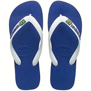 Havaianas-Ciabatta-Infradito-Unisex-Uomo-Donna-Brasil-Logo-Azul-Naval-Blu-Bianco