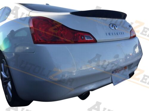 Carbon Fiber Rear Trunk Spoiler Lip for 2008-2013 INFINITI G37 Q60 Coupe 2dr D