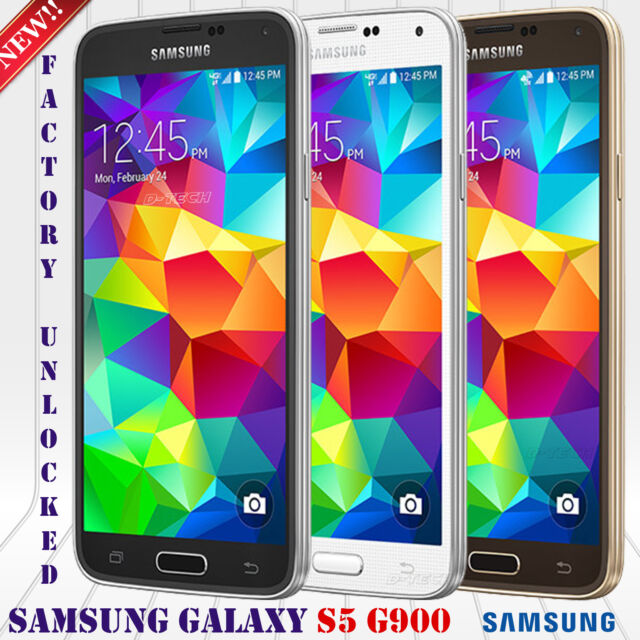 Samsung Galaxy S5 SM-G900V 16GB Android GSM + CDMA Unlocked Phone - Refurbished