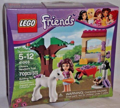 SEALED 41003 LEGO Friends OLIVIA NEWBORN FOAL Horse Pony Brunette Farm 70 pc set