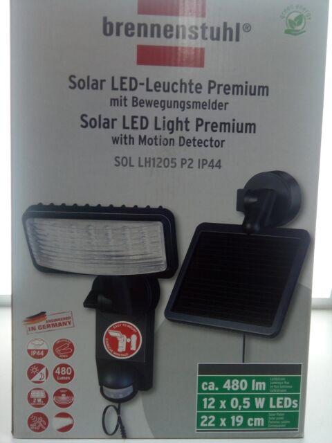 brennenstuhl® Solar LED - Leuchte 1179370 Strahler Bewegungsmelder Fluter Hof