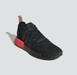 Adidas Originals NMD_R1 Black Signal Pink Mens Casual Sneaker FV1738 Size 8.5