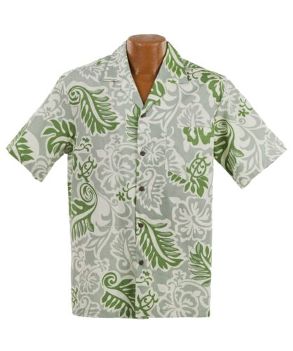 Turtle Fronds Hawaiian Aloha Shirt