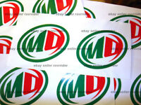 Mountain Dew Soft Drink Decal Sticker For Dew Tour