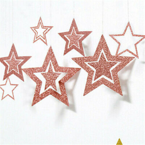 Baby Birthday Decoration Party Table Wedding Star Paper Shower Garland Hanging