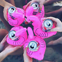 Flamingo Swimming Pool Pink Floating Drink Holder Inflatable Can Bath 1/2/5/10pc