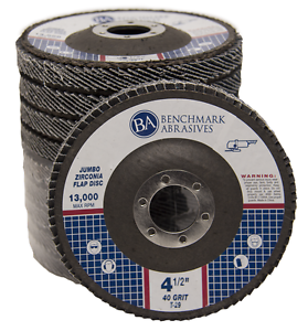 "5 Pack 4.5"" x 7//8/"" Jumbo 40 Grit Zirconia Flap Disc Grinding Wheels T29"