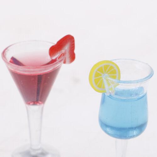 1:12 Mini Casa De Muñecas Vidrio cóctel de resina simulación de modelo Juguete Bebida Copa De Vino