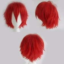 Hot Glueless Short Anime Cosplay Wigs Real Heat Resistant Synthetic Hair Costume
