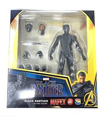 Mafex Black Panther No 091 Medicom US Seller AUTHENTIC SEALED Chadwick Boseman