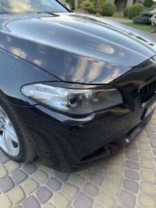 BMW-F10-F11-Wimpern-Boeser-Blick-Spoiler-Blende-einzigartiges-Design