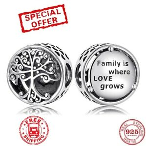 New Original 925 Pandora Sterling Silver Family Is Where Love Grows Jewelry Ebay