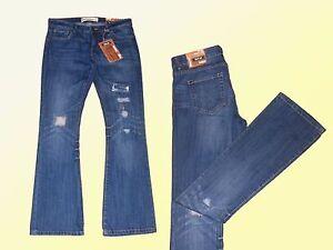 Vaqueros Mujer Elasticos Pantalones Efecto Destroyed Talla 34 46 Botas Cu Ebay