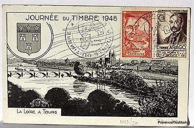 Europa Cpa Stempel JournÉe Der Stempel 1948 Touren 266ca29