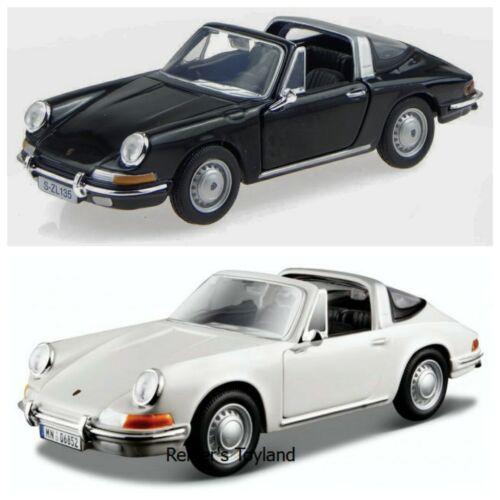 1:32 BBURAGO MODELLO DI AUTO PORSCHE 911 bianco o nero NUOVO IN SCATOLA ORIGINALE 1967