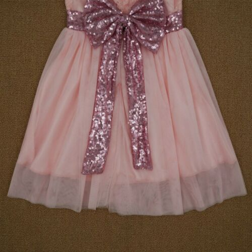 Toddler Baby Girls Tutu Dress Sequin Bow Princess Party Wedding Tulle Dress 1-6T