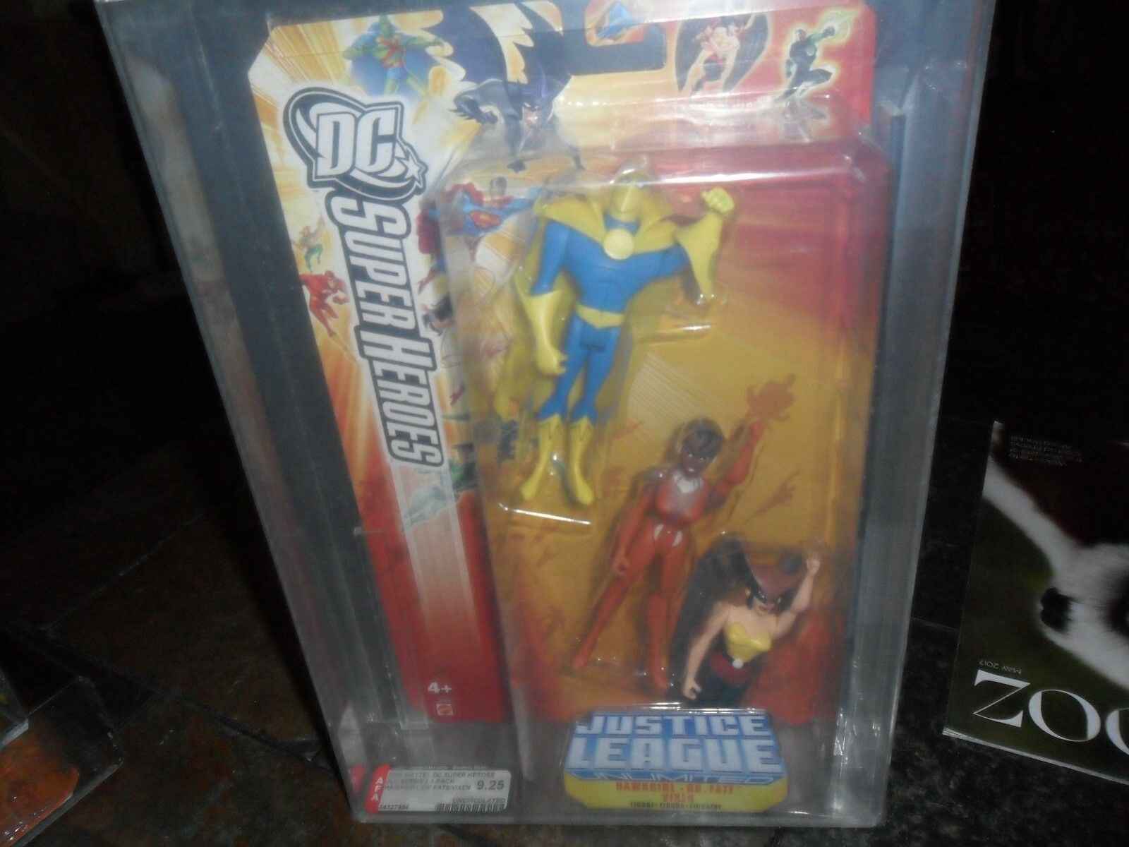 AFA 9.25 MINT FIGURES DC SUPER HEROES 2006 JUSTICE LEAGUE HAWKGIRL DR FATE VIXEN