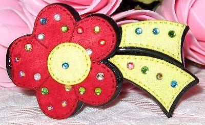 Girls Red/yellow Ponytail Clip Holder New Eine GroßE Auswahl An Farben Und Designs