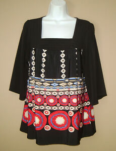 Womens-Petite-Size-Large-PL-Long-3-4-Sleeve-Casual-Spring-Blouse-Top-Shirt